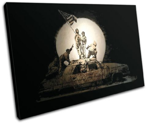 Iraq Car Banksy Painting - 13-1424(00B)-SG32-LO